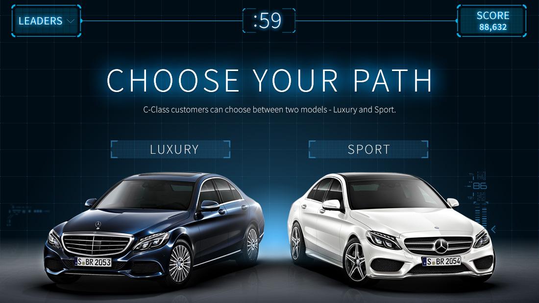 Design portfolio of joseph agresta mercedes benz c class for Mercedes benz games